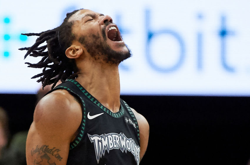 MINNEAPOLIS, MN - OCTOBER 31: Derrick Rose #25 of the Minnesota Timberwolves. (Photo by Hannah Foslien/Getty Images)