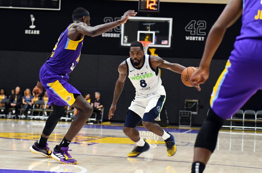 EL SEGUNDO, CA - JANUARY 25: Darius Johnson-Odom #8 of the Iowa Wolves handles the basketball against the South Bay Lakers. Copyright 2019 NBAE (Photo by Adam Pantozzi/NBAE via Getty Images)