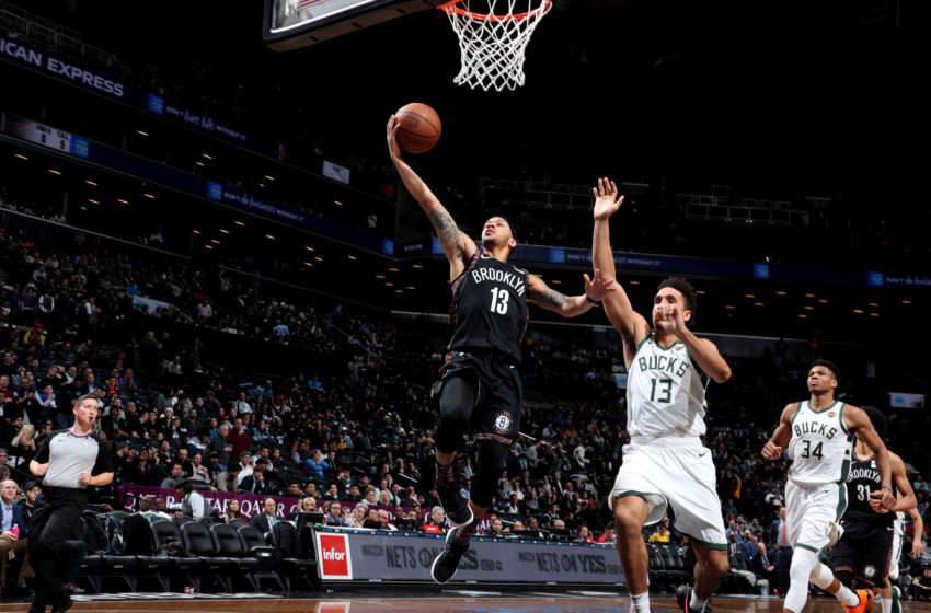 BROOKLYN, NY - FEBRUARY 4: Shabazz Napier #13 of the Brooklyn Nets. Copyright 2019 NBAE (Photo by Nathaniel S. Butler/NBAE via Getty Images)
