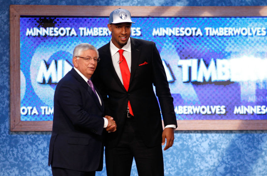 The Minnesota Timberwolves finished No. 2 in the 2011 draft lottery and ended up with Derrick Williams instead of Kyrie Irving. (Photo by Mike Stobe/Getty Images)