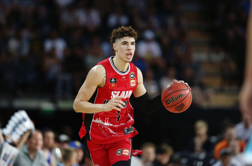 Potential Minnesota Timberwolves prospect LaMelo Ball. (Photo by Anthony Au-Yeung/Getty Images)