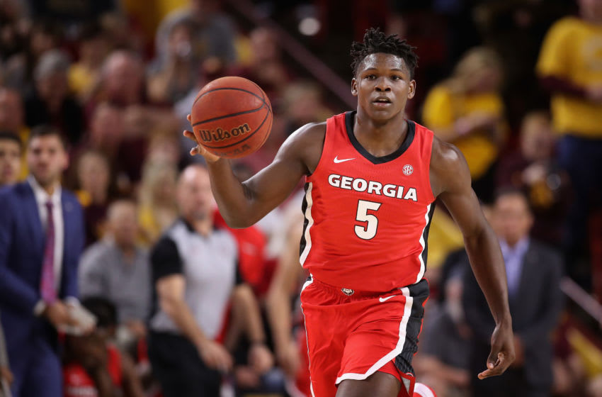 Anthony Edwards of the Georgia Bulldogs was the No. 1 pick in the 2020 NBA Draft by the Minnesota Timberwolves. (Photo by Christian Petersen/Getty Images)