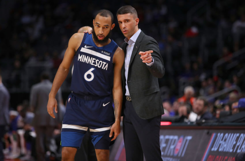 Head coach Ryan Saunders of the Minnesota Timberwolves. (Photo by Gregory Shamus/Getty Images)