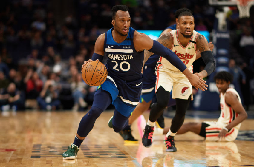 Josh Okogie of the Minnesota Timberwolves. (Photo by Hannah Foslien/Getty Images)