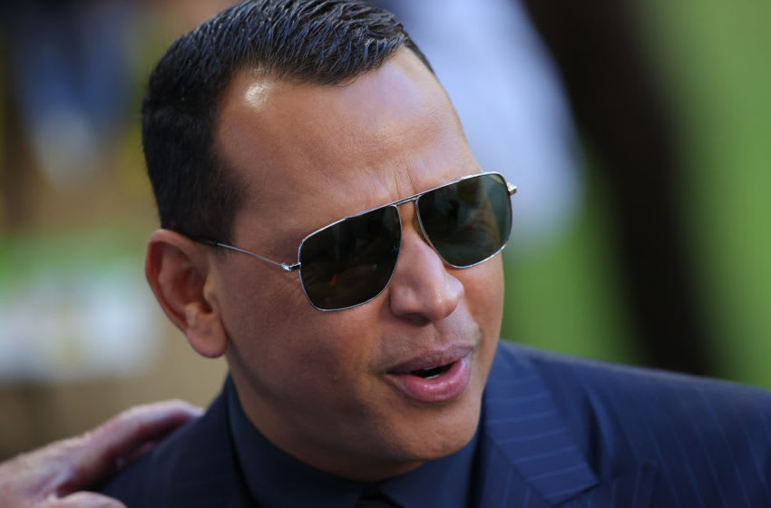 MIAMI, FLORIDA - FEBRUARY 02: Former baseball player Alex Rodriguez looks on before Super Bowl LIV at Hard Rock Stadium on February 02, 2020 in Miami, Florida. (Photo by Ronald Martinez/Getty Images)