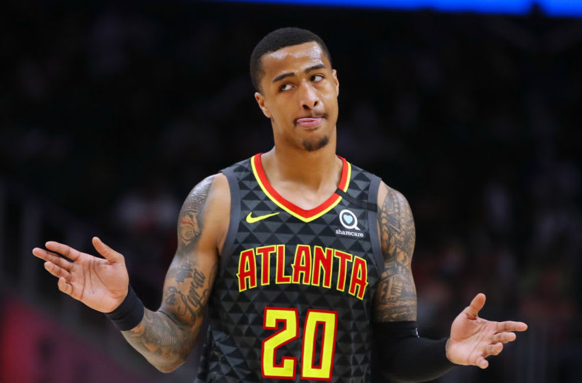 Could John Collins end up as a member of the Minnesota Timberwolves in a trade for the No. 1 pick? (Photo by Todd Kirkland/Getty Images)