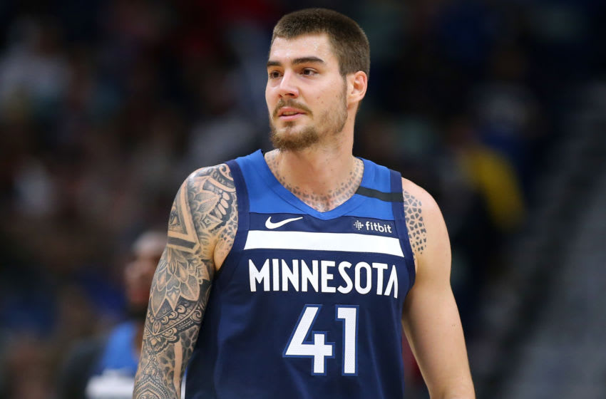 Juan Hernangomez is excited about his Minnesota Timberwolves teammates. (Photo by Jonathan Bachman/Getty Images)