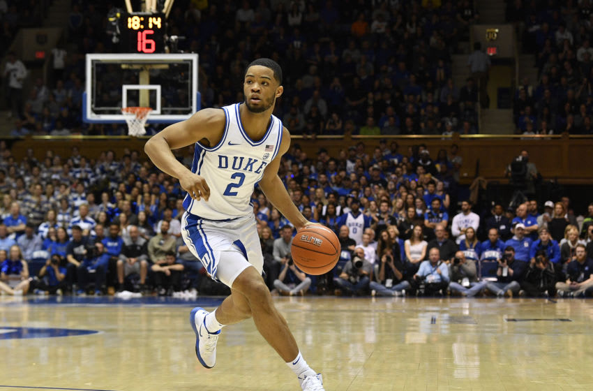 DURHAM, NORTH CAROLINA - MARCH 07: Cassius Stanley #2 of the Duke Blue Devils. (Photo by Grant Halverson/Getty Images)