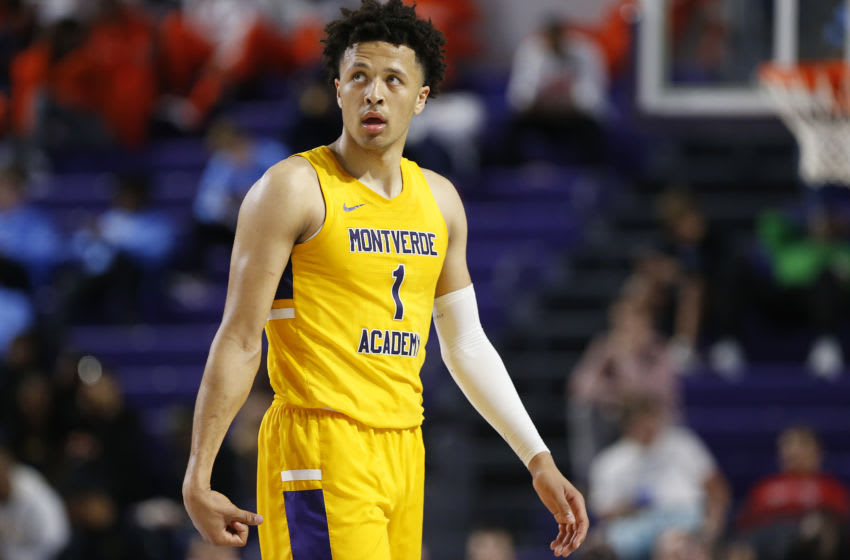 FORT MYERS, FLORIDA - DECEMBER 19: Cade Cunningham #1 of Montverde Academy in action against Sanford School during the City of Palms Classic Day 2 at Suncoast Credit Union Arena on December 19, 2019 in Fort Myers, Florida. (Photo by Michael Reaves/Getty Images)