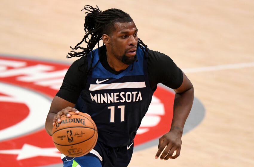 Naz Reid of the Minnesota Timberwolves. (Photo by Will Newton/Getty Images)