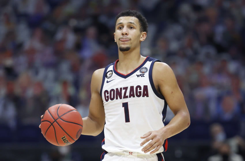 Jalen Suggs of the Gonzaga Bulldogs could be a target if the Minnesota Timberwolves manage to land in the top three of the 2021 NBA Draft. (Photo by Jamie Squire/Getty Images)
