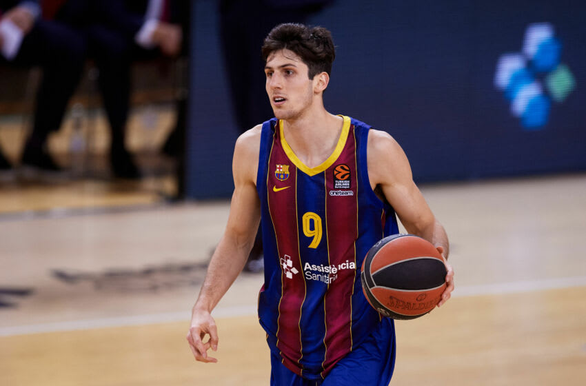 Leandro Bolmaro is expected to join the Minnesota Timberwolves this season. (Photo by Alex Caparros/Getty Images)