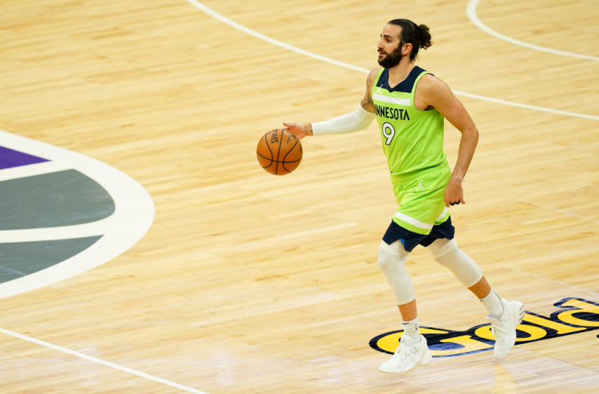 Ricky Rubio of the Minnesota Timberwolves. (Photo by Daniel Shirey/Getty Images)
