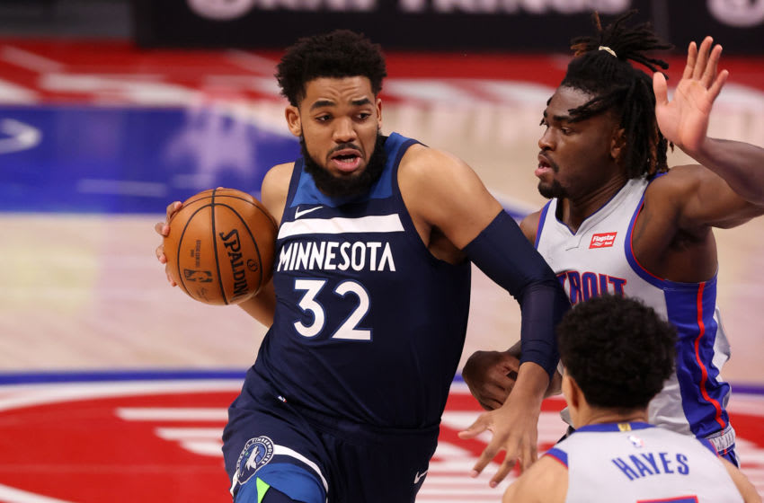 Karl-Anthony Towns of the Minnesota Timberwolves. (Photo by Gregory Shamus/Getty Images)