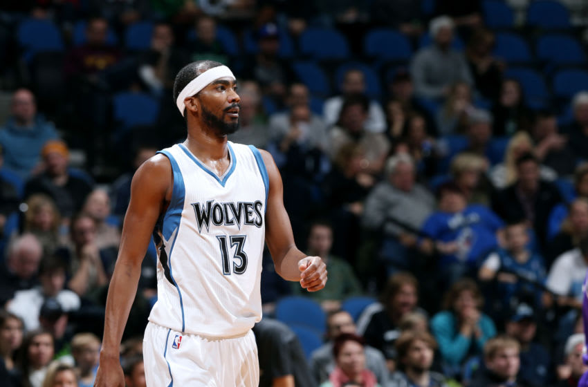MINNEAPOLIS, MN - NOVEMBER 22: Corey Brewer #13 of the Minnesota Timberwolves. Copyright 2014 NBAE (Photo by David Sherman/NBAE via Getty Images)