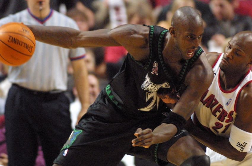 PORTLAND, UNITED STATES: Minnesota Timberwolves' Kevin Garnett. JOHN GRESS/AFP/Getty Images
