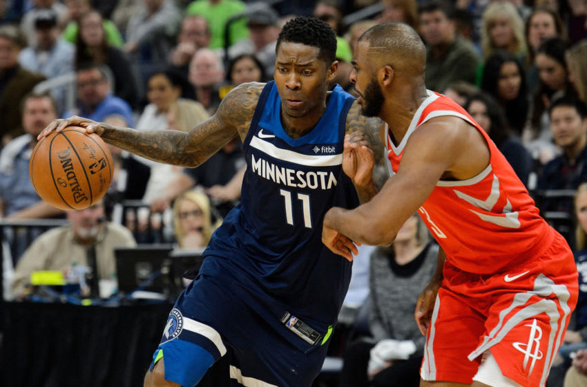 MINNEAPOLIS, MN - APRIL 21: Jamal Crawford #11 of the Minnesota Timberwolves. (Photo by Hannah Foslien/Getty Images)