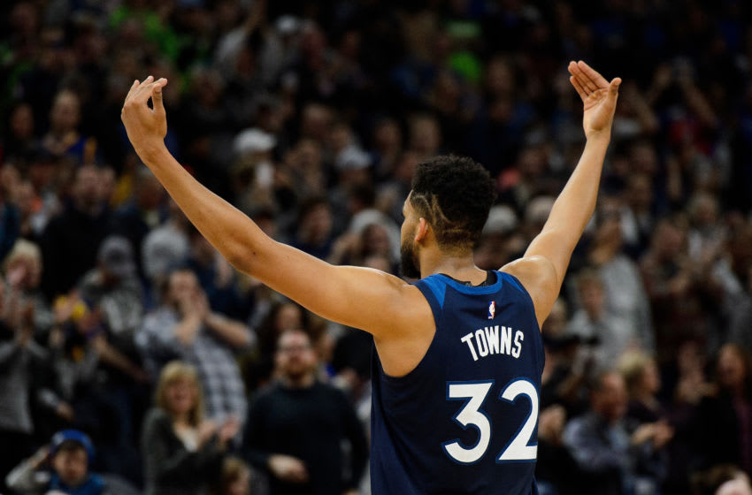 MINNEAPOLIS, MN - MARCH 11: Karl-Anthony Towns. (Photo by Hannah Foslien/Getty Images)