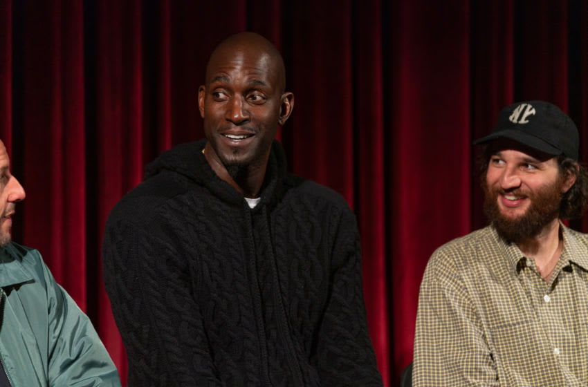 NEW YORK, NEW YORK - DECEMBER 03: Adam Sandler, Kevin Garnett and Josh Safdie attend The Academy Of Motion Picture Arts & Sciences Hosts An Official Academy Screening Of UNCUT GEMS at MOMA - Celeste Bartos Theater on December 03, 2019 in New York City. (Photo by Mark Sagliocco/Getty Images for The Academy of Motion Picture Arts & Sciences )