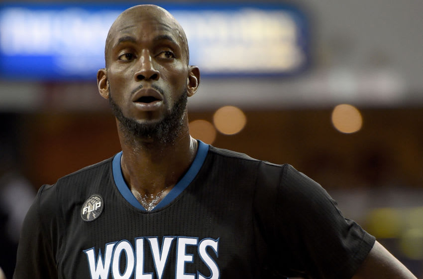 Kevin Garnett of the Minnesota Timberwolves. (Photo by Thearon W. Henderson/Getty Images)