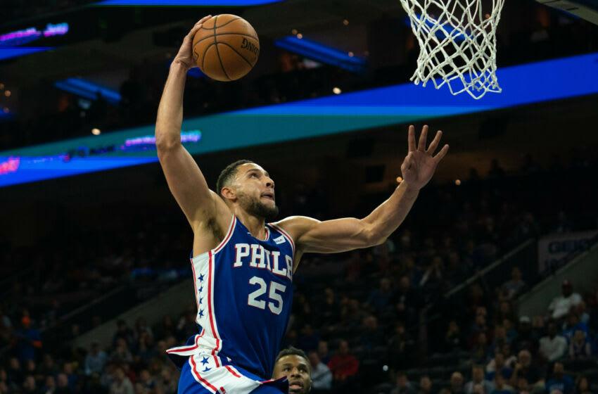 Philadelphia 76ers guard Ben Simmons remains a trade target of the Minnesota Timberwolves. Mandatory Credit: Bill Streicher-USA TODAY Sports
