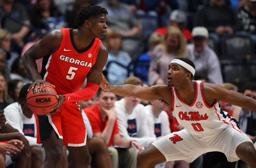 Georgia Bulldogs guard Anthony Edwards was the Minnesota Timberwolves' top pick in the 2020 NBA Draft. Mandatory Credit: Christopher Hanewinckel-USA TODAY Sports