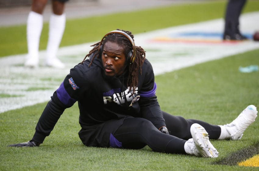 PITTSBURGH, PA - OCTOBER 06: Matt Judon #99 of the Baltimore Ravens warms up against the Pittsburgh Steelers on October 6, 2019 at Heinz Field in Pittsburgh, Pennsylvania. (Photo by Justin K. Aller/Getty Images)