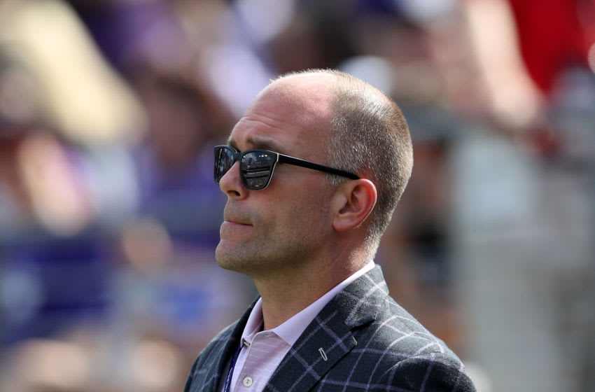 General manager Eric DeCosta of the Baltimore Ravens (Photo by Rob Carr/Getty Images)
