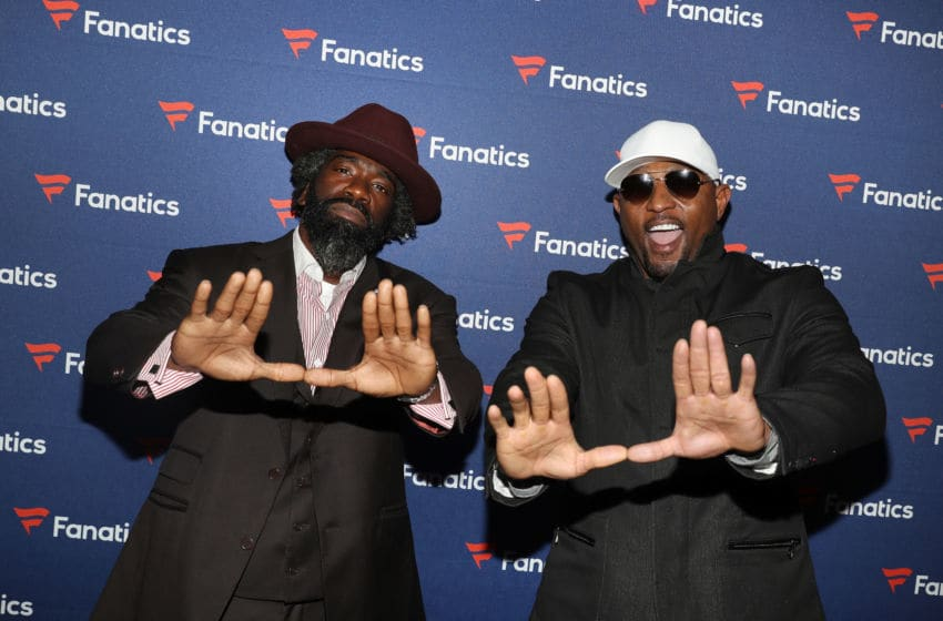 ATLANTA, GA - FEBRUARY 02: Ed Reed (L) and Ray Lewis arrive at the Fanatics Super Bowl Party at College Football Hall of Fame on January 5, 2019 in Atlanta, Georgia. (Photo by Tasos Katopodis/Getty Images for Fanatics)