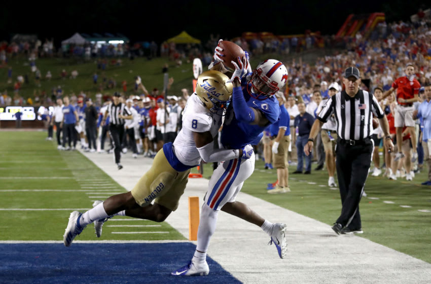 James Proche #3 of the Southern Methodist Mustangs (Photo by Ronald Martinez/Getty Images)