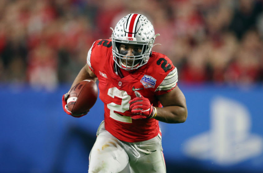 J.K. Dobbins #2 of the Ohio State Buckeyes (Photo by Christian Petersen/Getty Images)