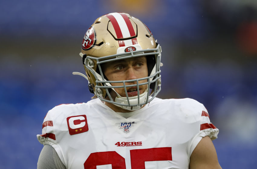 George Kittle #85 of the San Francisco 49ers (Photo by Scott Taetsch/Getty Images)