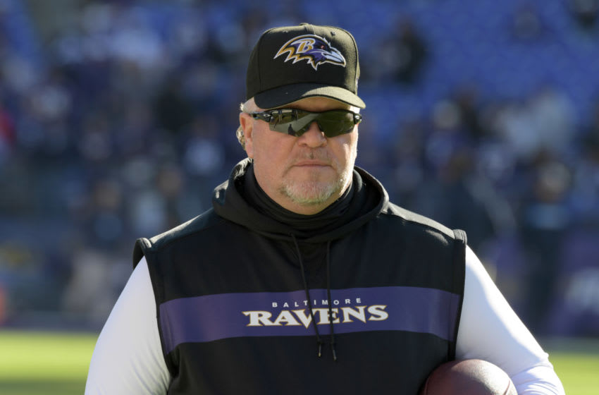 Jan 6, 2019; Baltimore, MD, USA; Baltimore Ravens defensive coordinator Don Martindale during an AFC Wild Card playoff football game against the Los Angeles Chargers at M&T Bank Stadium. The Chargers defeated the Ravens 23-17. Mandatory Credit: Kirby Lee-USA TODAY Sports
