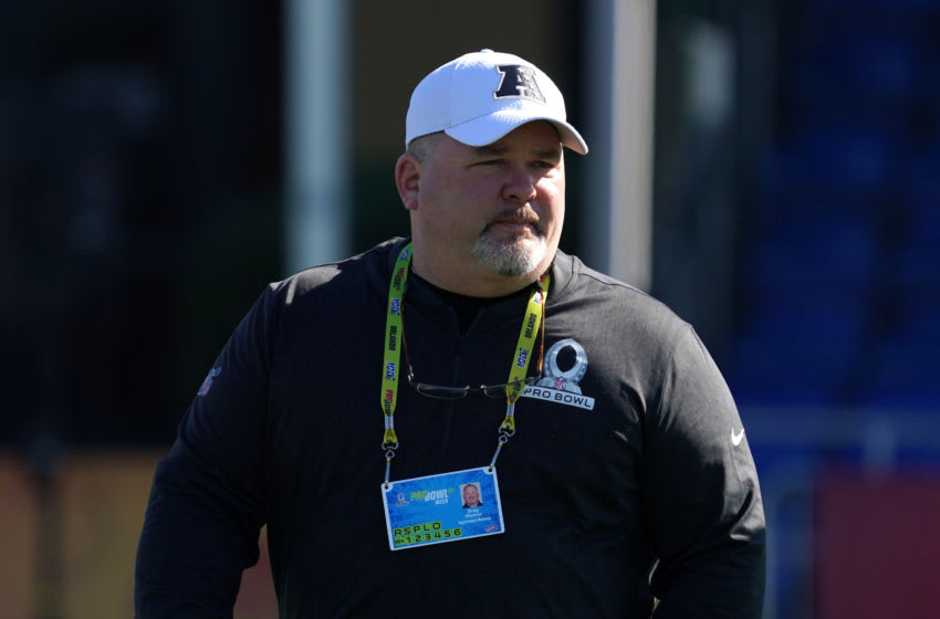 Baltimore Ravens offensive coordinator Greg Roman Mandatory Credit: Kirby Lee-USA TODAY Sports