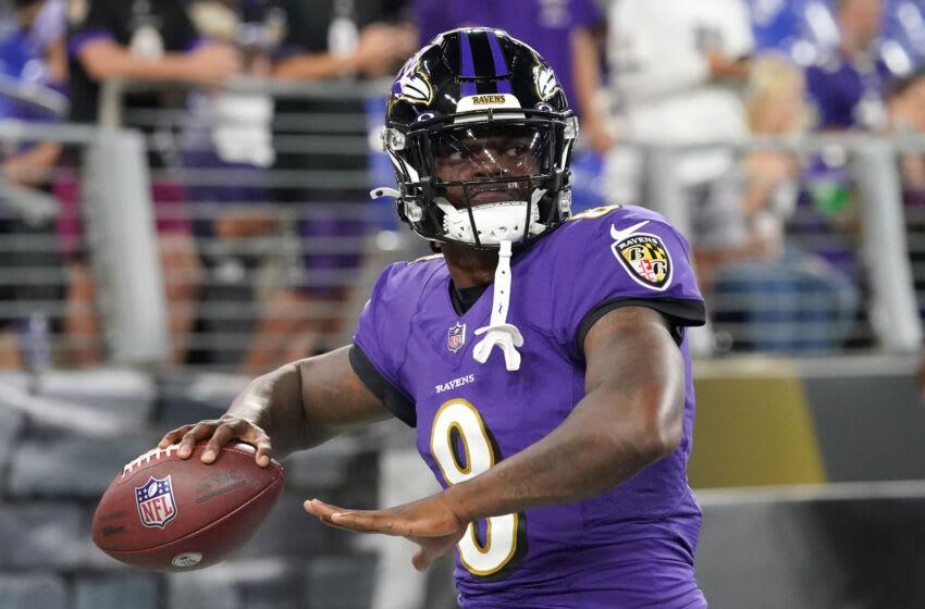 Ravens, Lamar Jackson Mandatory Credit: Mitch Stringer-USA TODAY Sports