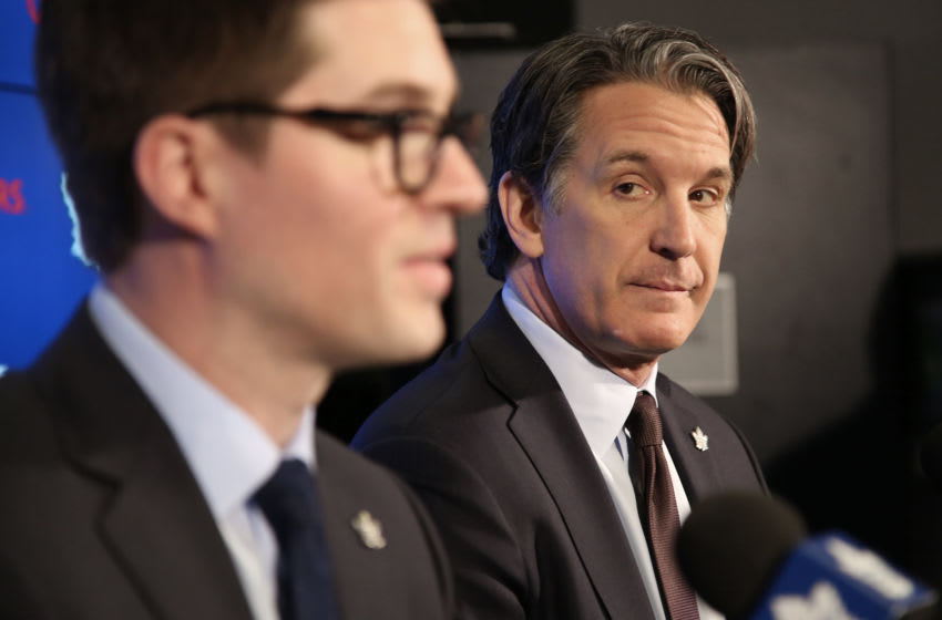 TORONTO, ON-Toronto-DUBAS.The Maple Leafs announced today the promotion of Kyle Dubas to General Manager. Brendan Shanahan was on hand for the announcement..October 30, 2012. (Rene Johnston/Toronto Star via Getty Images)