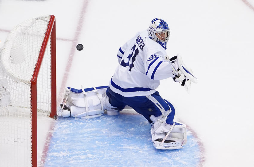 Frederik Andersen #31 of the Toronto Maple Leafs (Photo by Andre Ringuette/Freestyle Photo/Getty Images)