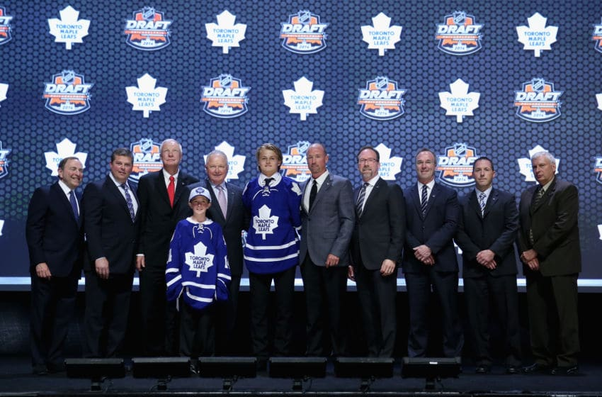 PHILADELPHIA, PA - JUNE 27: William Nylander is selected eighth overall by the Toronto Maple Leafs in the first round of the 2014 NHL Draft at the Wells Fargo Center on June 27, 2014 in Philadelphia, Pennsylvania. (Photo by Bruce Bennett/Getty Images)