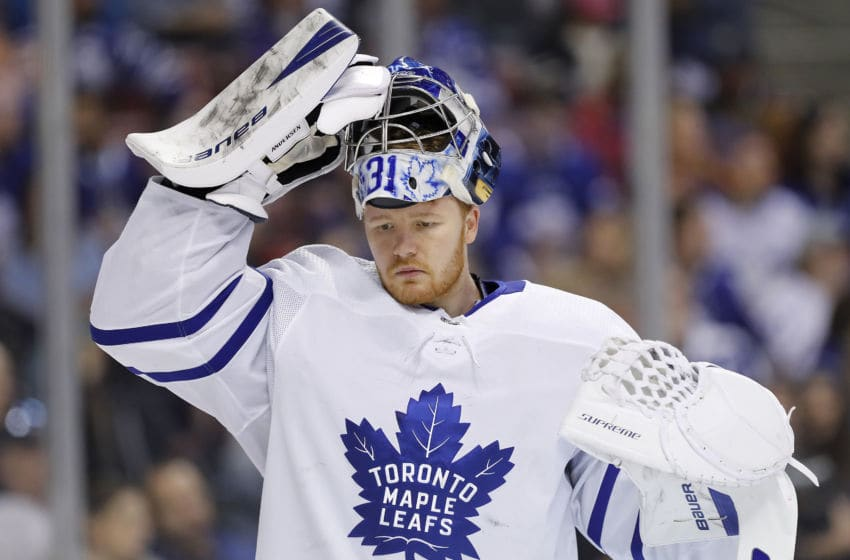 Frederik Andersen, Toronto Maple Leafs (Photo by Michael Reaves/Getty Images)