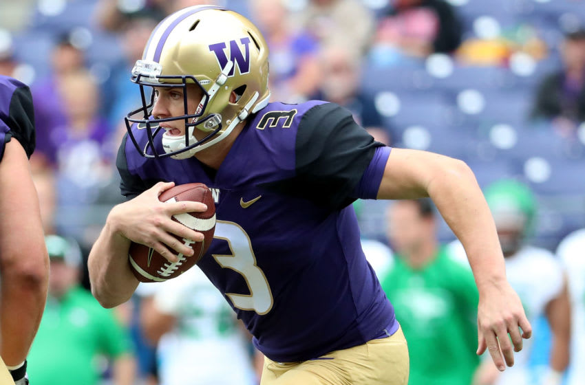 Jake Browning, Washington Huskies. (Photo by Abbie Parr/Getty Images)