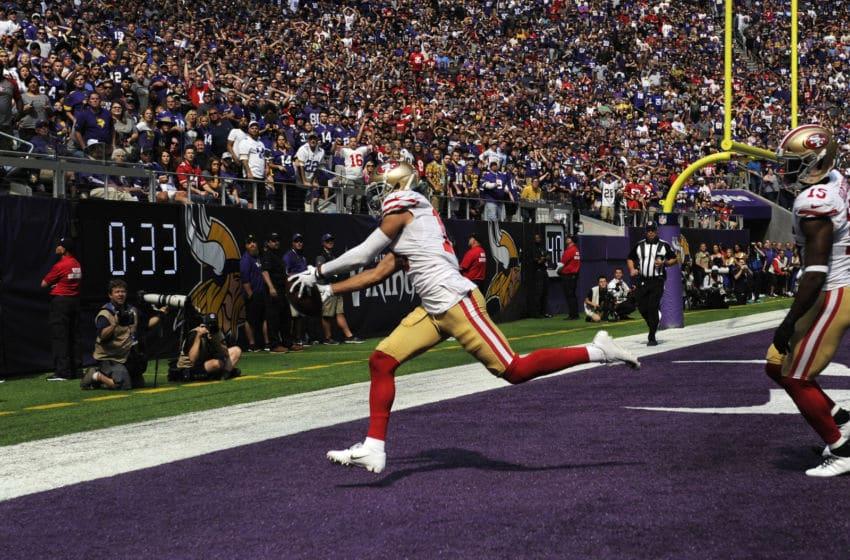 Dante Pettis, San Francisco 49ers, Washington football. (Photo by Hannah Foslien/Getty Images)