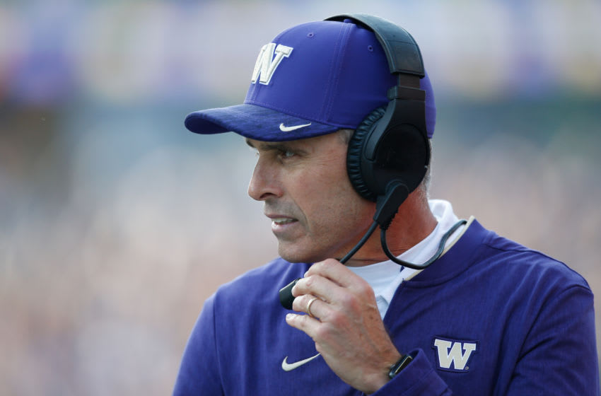 Chris Petersen, Washington football. (Photo by Otto Greule Jr/Getty Images)