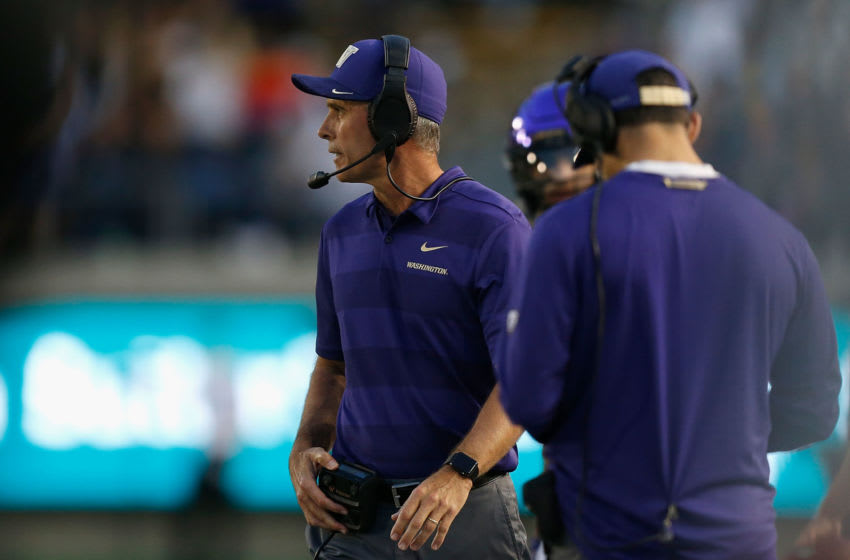 Chris Petersen, Washington football. (Photo by Lachlan Cunningham/Getty Images)