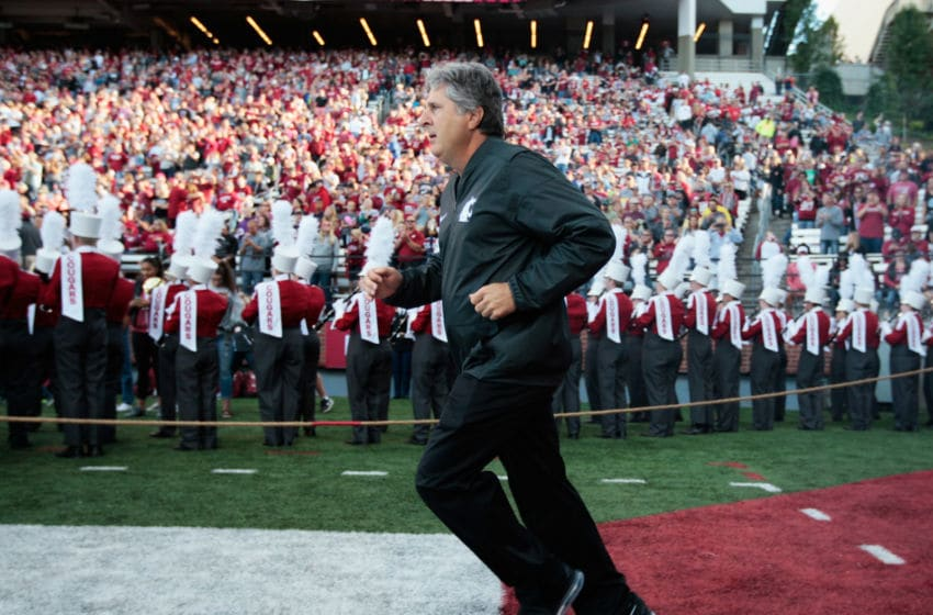 Mike Leach, Washington State football. (Photo by William Mancebo/Getty Images)