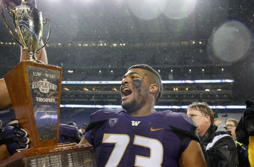 Andrew Kirkland, Washington football, Apple Cup. (Photo by Otto Greule Jr/Getty Images)