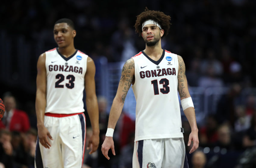 Zach Norvell Jr., Josh Perkins, Gonzaga Bulldogs. (Photo by Ezra Shaw/Getty Images)