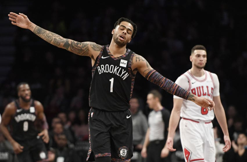 Brooklyn Nets. D'Angelo Russell. (Photo by Sarah Stier/Getty Images)