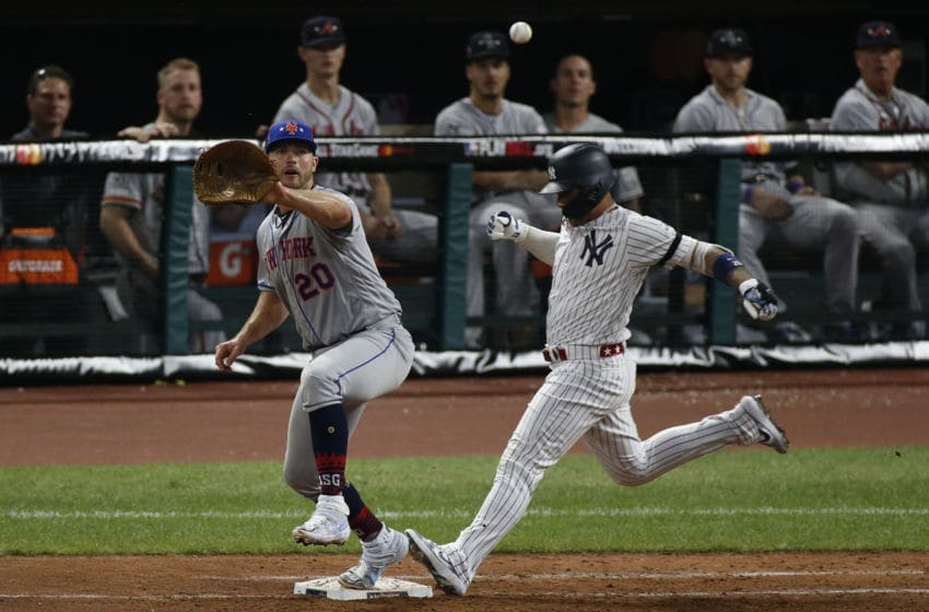 Pete Alonso, New York Mets. Gleyber Torres, New York Yankees. (Photo by Kirk Irwin/Getty Images)