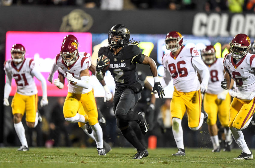 Laviska Shenault Jr., Colorado Buffaloes. (Photo by Dustin Bradford/Getty Images)