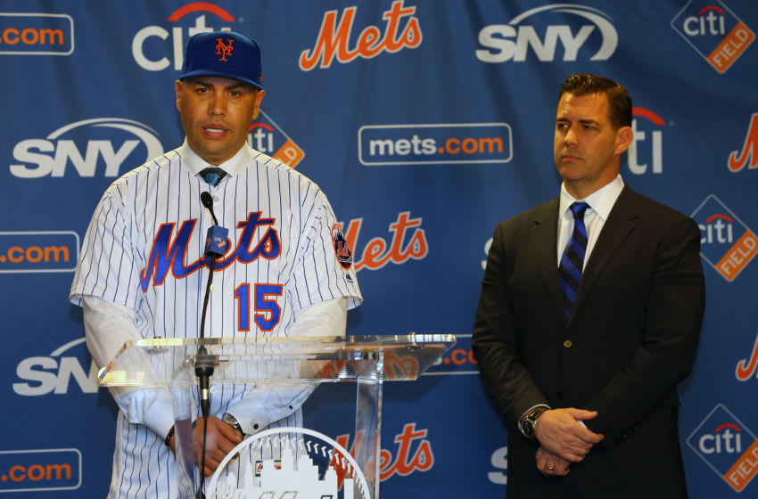 Carlos Beltran, Brodie Van Wagenen, New York Mets. (Photo by Rich Schultz/Getty Images)